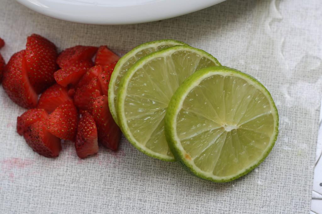 erdbeeren limetten