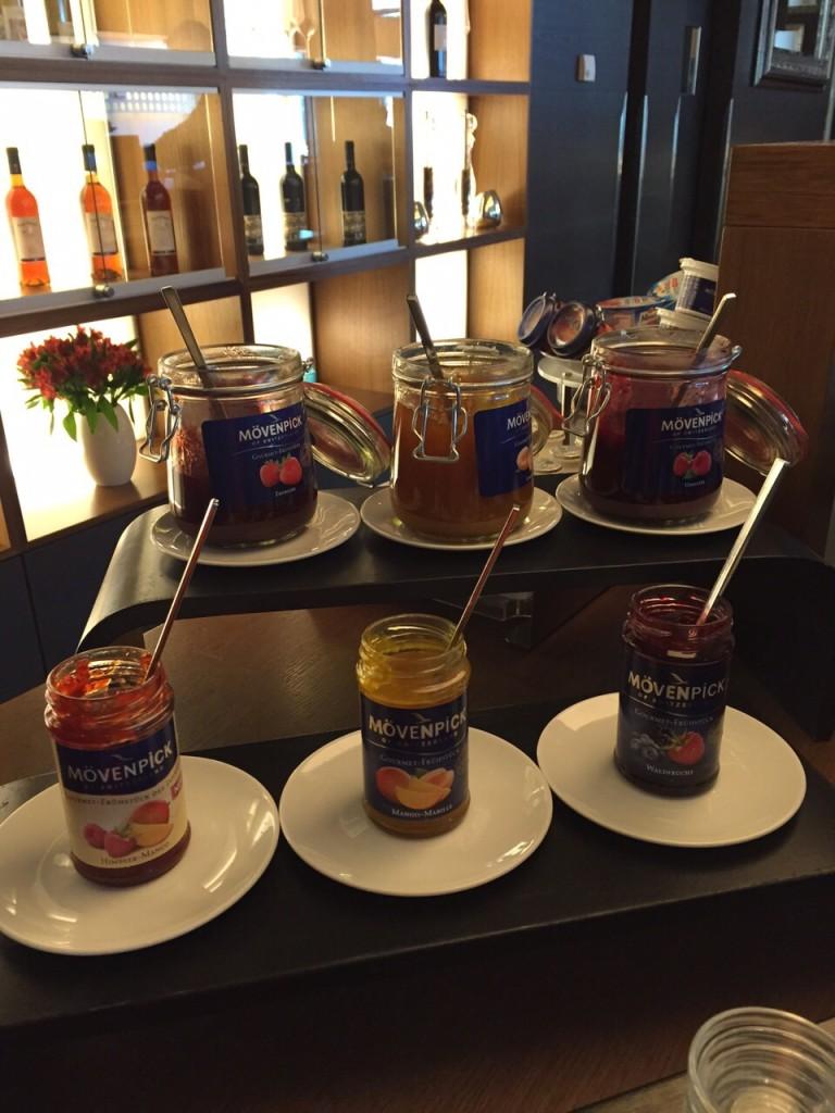 Marmeladenauswahl  Mövenpick Hotel